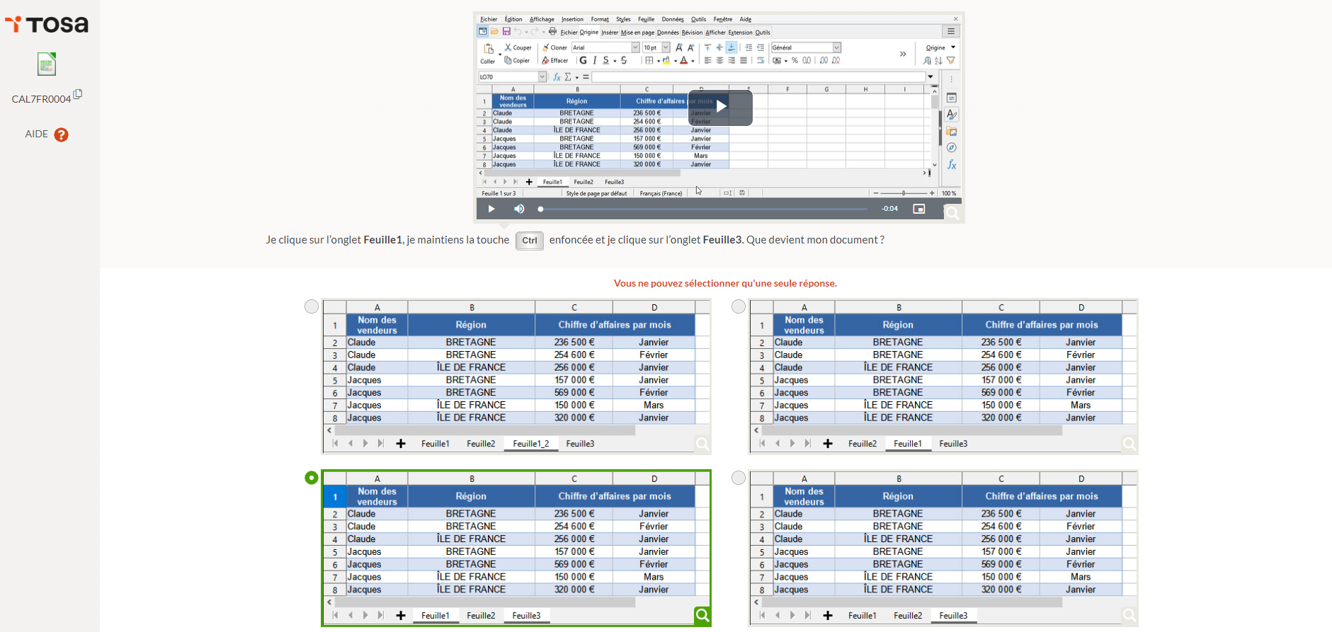 test tosa libreoffice calc