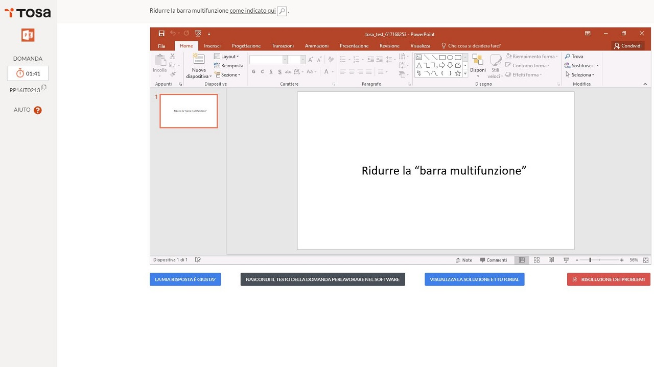 test tosa microsoft powerpoint